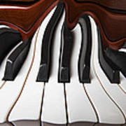 Piano Wave Print by Garry Gay