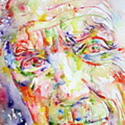 Picasso Pablo Watercolor Portrait.2 Print by Fabrizio Cassetta