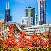Picture Of Chicago In Autumn Print by Paul Velgos