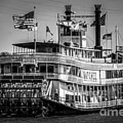 Picture Of Natchez Steamboat In New Orleans Print by Paul Velgos