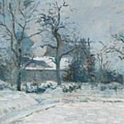 Piettes House At Montfoucault Print by Camille Pissarro