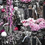 Pink Flower Arrangements Print by Elena Elisseeva