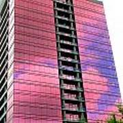 Pink Glass Buildings Can Be Pretty Print by Randall Weidner