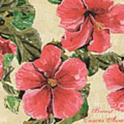 Pink Hibiscus Print by Debbie DeWitt
