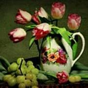 Pink In A Pitcher Print by Diana Angstadt