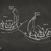 Pirate Ship Patent Artwork - Gray Print by Nikki Marie Smith