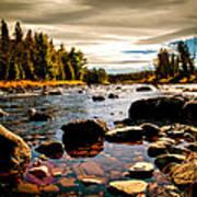 Piscataquis River Dover-foxcroft Maine Print by Bob Orsillo