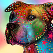 Pit Bull Print by Mark Ashkenazi