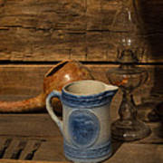 Pitcher Cup And Lamp Print by Douglas Barnett