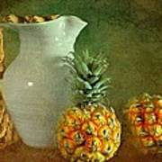 Pitcher With Pineapples Print by Diana Angstadt