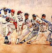 Pitching Windup  Print by Michael  Pattison