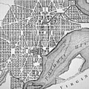 Plan Of The City Of Washington As Originally Laid Out In 1793 Print by American School