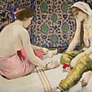 Playing Knucklebones Print by Paul Alexander Alfred Leroy