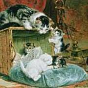 Playtime Print by Henriette Ronner-Knip