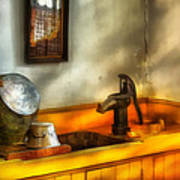 Plumber - The Wash Basin Print by Mike Savad