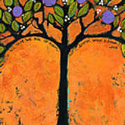Poe Tree Art Print by Blenda Studio