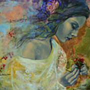 Poem At Twilight Print by Dorina  Costras