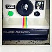 Polaroid Camera.  Print by Les Cunliffe