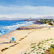 Ponto Beach Carlsbad California Print by Mary Helmreich
