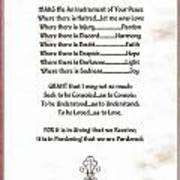 Pope Francis St. Francis Simple Prayer Sicily Print by Desiderata Gallery