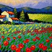 Poppy Field - Provence Print by John  Nolan