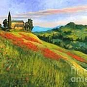 Poppy Hill Print by Michael Swanson