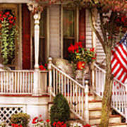 Porch - Americana Print by Mike Savad
