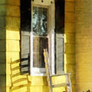 Porch - Long Afternoon Shadow Of Rocking Chair Print by Susan Savad