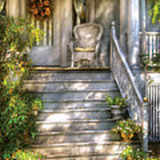 Porch - Westfield Nj - Grannies Porch  Print by Mike Savad