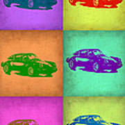 Porsche 911 Pop Art 2 Print by Naxart Studio