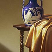 Portland Vase With Cloth Print by Barbara Groff