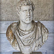 Portrait Bust Of The Emperor Antoninus Plus Print by Radoslav Nedelchev