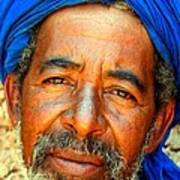 Portrait Of A Berber Man  Print by Ralph A  Ledergerber-Photography