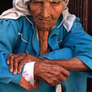 Portrait Of A Berber Woman Print by Ralph A  Ledergerber-Photography