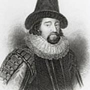 Portrait Of Francis Bacon Print by English School