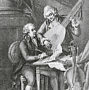 Portrait Of Franz Joseph Haydn Print by John Francis Rigaud