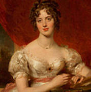 Portrait Of Mary Anne Bloxam Print by Thomas Lawrence