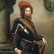 Portrait Of Nicolo Raggi Print by Bernardo Strozzi