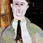 Portrait Of Paul Guillaume Print by Amedeo Modigliani