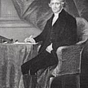 Portrait Of Thomas Jefferson Print by Alonzo Chappel
