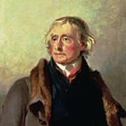 Portrait Of Thomas Jefferson Print by Thomas Sully
