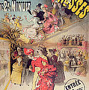 Poster Advertising The Montagnes Russes Roller Coaster Print by French School