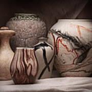 Pottery Still Life Print by Tom Mc Nemar