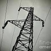 Power Pole Print by Bernard Jaubert