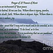 Prayer Of St Francis Of Assisi Print by Sharon Elliott