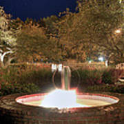 Prescott Park Fountain Print by Joann Vitali