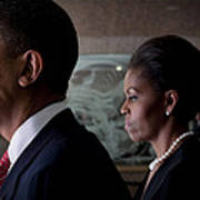 President And Mrs Obama Print by Mountain Dreams