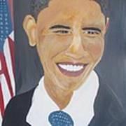 President  Barack Obama Print by John Onyeka