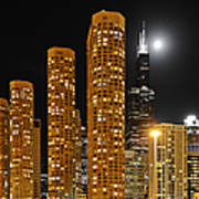 Presidential Towers Chicago Print by Christine Till