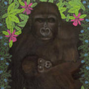 Primordial Spirit Of Motherhood Print by Diana Perfect